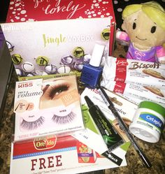 Influenster Jingle VoxBox Products:  Cetaphil® Moisturizing Cream Hallmark itty Bittys Pure Ice nail color in French Kiss KISS Lashes NYC 24HR waterproof eyeliner  Ore-Ida Totts Biscoff   You can sign up at www.influenster.com/r/290215  *I received these products complimentary from influenster for testing purposes only all opinions are my own #Cheerphil #ittybittys #PureIce #KISSLashes  #cityproofnyc #OreIdaTotchos #MyBiscoffBreak