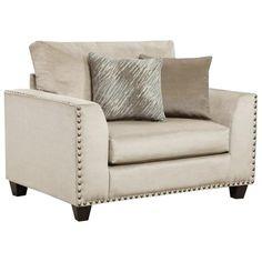 Empire Stone Chair and a Half in Gray | Nebraska Furniture Mart