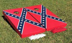Rebel Flag Cornhole Boards by JRHCornhole on Etsy, $172.95