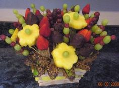 Fruit Bouquet - COOKING - Knitting, sewing, crochet, tutorials, children crafts, papercraft, jewlery, needlework, swaps, cooking and so much more on Craftster.org