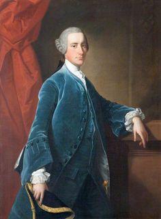 """""""Portrait of Sir Thomas Dyke-Acland, Bt. by Thomas Hudson"""