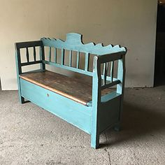 Storage Benches, Bench With Storage, Country Furniture, Folk Art, Images, Antiques, Google, Painting, Home Decor