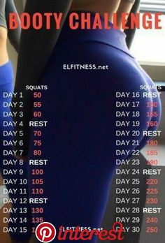 The 30 day squat challenge can be done by anyone as this is very . - The 30 day squat challenge can be done by anyone as it is very simple and straightforward - Fitness Herausforderungen, Fitness Workout For Women, Fitness Workouts, Ab Workouts, Physical Fitness, Health Fitness, Fitness Journal, Monthly Workouts, Retro Fitness