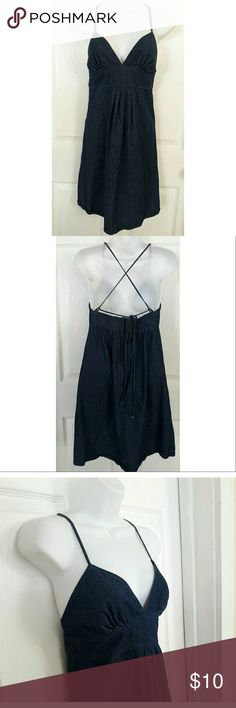 JFW Denim Jean 100% cotton Halter Dress JFW Just for wraps, Denim Jean 100% cotton Halter Dress. Worn once. Size 3/4. Smoke free home! Just For Wraps Dresses