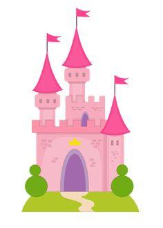 Princesas e Príncipes - Minus Princess Theme, Princess Castle, Baby Princess, Art For Kids, Crafts For Kids, Pink Castle, Disney Rooms, Baby Clip Art, Class Decoration