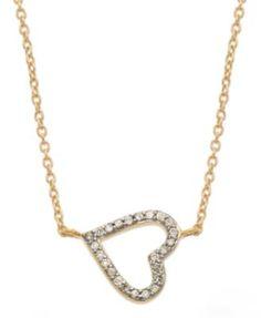 YellOra™ Diamond Sideways Heart Pendant Necklace in YellOra™ (1/6 ct. t.w.)
