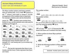 math worksheet : mayan math  math fun  pinterest  math mystery of history and  : Mayan Math Worksheets