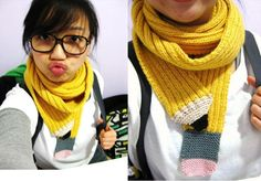 Pencil Scarf! Too cool for school