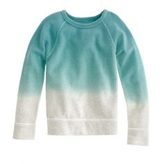 Beach-worthy boys' dip-dyed sweatshirt... wish it came in my size, too!