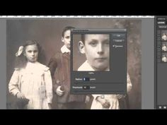 Photoshop Elements: Restore Vintage Photos - YouTube healing, dust & scratches
