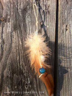 FREE SHIPPING   Morning Dew - A Single Hippie Chic Inspired Reclaimed Bead and Feather Shoulder Duster... by rebellionheir((s)). $9.00, via Etsy.