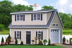 Buy this two story garage in Lancaster PA and have it delivered as a Modular Car Garage. Buy direct from the manufacturer and save. Call 717-442-3281 to learn more.