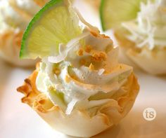 Mini desserts are such a fun trend these days, today we're serving it up in cute little phyllo cups.