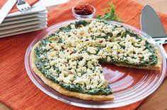 Spinach and Artichoke Pizza #vegetarian