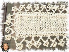 Crochê Tricô: TUNISIANO & CROCHÊ - Mini Caminho