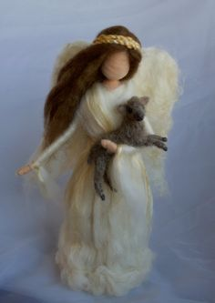 Needle Felted Fairy Angel Tree Topper Waldorf by ClaudiaMarieFelt