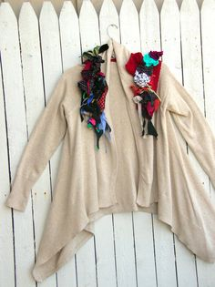 Reconstructed Altered Couture Upcycled Cardigan by JacketsbyJahne, $98.00
