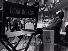 Brian De Palma on the set of Blow Out.