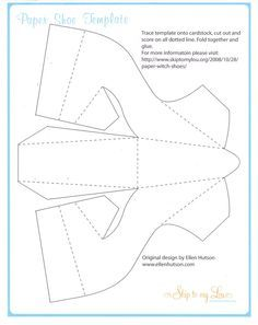 Paper shoe template