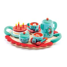A favourite tea set. Djeco Fox's Party distributed by Kaleidoscope.