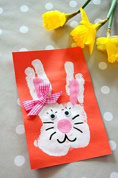 Discover recipes, home ideas, style inspiration and other ideas to try. Bunny Crafts, Cute Crafts, Diy And Crafts, Crafts For Kids To Make, Easter Crafts For Kids, Kids Diy, Buzzfeed Diy, Footprint Art, Easter Art