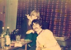Pattie Boyd-Harrison and George Harrison (George and Pattie visiting George's brother Peter in Liverpool in 1967) (Source- http://weloveyougeorgeharrison.tumblr.com/post/8998891179/george-and-pattie-visiting-georges-brother-peter)