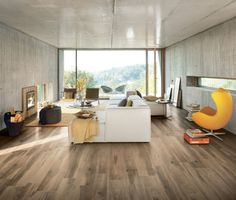 All Wood Noce Porcelain Glazed Rectified Tile Porcelain Wood Tile, Tiny Apartments, Italian Home, Wood Look Tile, Style Tile, Decoration, House Tours, New Homes, Flooring