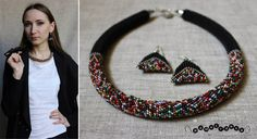 #джгут #жгут #орнамент #beadednecklace #crochet #етно #прикраса #apparel #блакитний #handmade #ручнаяработа #бісер #blue #червоний #чорний #бісероплетіння #bead #україна #ukraine #lviv #львів #намистинка #namystynka #black #grey #сірий