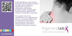 Il Dry Needling è una tecnica manuale che prevede l'utilizzo di aghi molto sottili per disattivare i punti di attivazione del dolore (trigger point) responsabili di una grande quantità di sintomi e disordini muscolari. Per questo non è da confondere con l'agopuntura cinese: consente infatti solo il trattamento del dolore miofasciale (compresa la fibromialgia) e dei dolori tendinei, articolari ed ossei. Per maggiori informazioni: http://www.rigeneralab.it/