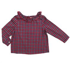 Grace Shirt - Red Tartan
