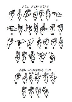 ASL Alphabet Handout Check out the ABC Signs Program for free sign language handouts and sign language videos. The ABC Signs Program is a s Sign Language For Kids, Sign Language Phrases, Sign Language Interpreter, Sign Language Alphabet, British Sign Language, Learn Sign Language, Spanish Language, French Language, Asl Letters