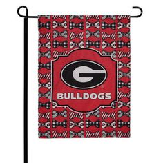"Georgia Bulldogs 12"" x 15"" Bowtie Design Garden Flag"