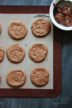 Flourless Nutella Cookies - One Sweet Appetite - it is dangerous just how easy these cookies are!! only 4 ingredients!