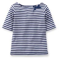 Striped Bow Tee