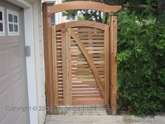 Double, (Gate and a Half), wooden gate plans. These designs are fairly easy to build and come with free support while you build. If your contractor has questions, he can email for answers or advice as well. We are your source for great gate ideas! Wooden Gate Plans, Wooden Garden Gate, Wooden Gates, Garden Doors, Garden Fencing, Garden Paths, Wood Pergola, Pallets Garden, Backyard Pergola
