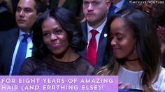 FLOTUS Michelle Obama always has the best hair.