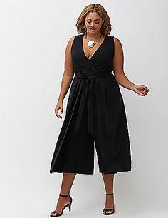 eeb5a04f9eb6 Lane Bryant Infinite Stretch Wide Leg Crop Jumpsuit Trendy Plus Size  Clothing