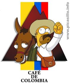 Hahaha had to share this . Colombian Art, Colombian Coffee, American Cafe, Coffee Shop Logo, South American Countries, Coffee Illustration, Colombia Travel, My Heritage, Coffee Art