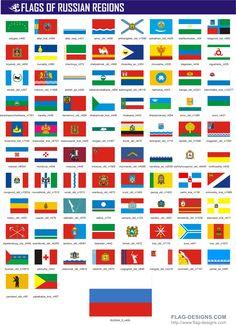 Flags Of Russian Regions by www.flag-designs.com
