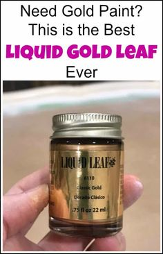 Looking for the best liquid gold leaf? This liquid leaf is easy to use and creates a gold metallic luster to your project for an elegant touch. See how to apply gold leaf with a short video and find where to buy gold leaf paint. Resin Crafts, Resin Art, Where To Buy Gold, Liquid Gold Leaf, Metallic Luster, Metallic Gold Paint, Gold Acrylic Paint, Feuille D'or, Gold Leaf Art