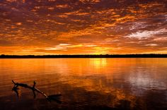 Another view of a sunrise over Lake Mary, Florida.