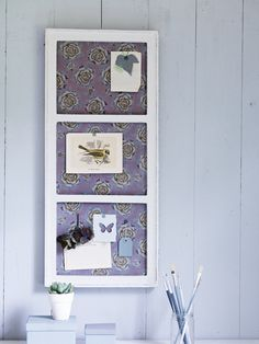 use an old window frame