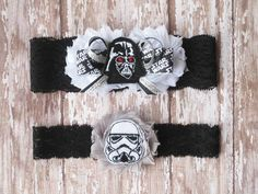 Star Wars Garter Set...Star Wars Wedding by GeekyGarters on Etsy, $23.00
