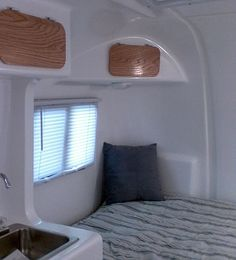 Cabnit doors***   PICTURE TOUR OF EGGCAMPER Fiberglass Camper, Temporary Housing, Door Picture, Chewing Gum, Happy Campers, Cactus, Alternative, Home Appliances, Tours