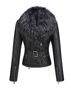 online shopping for Bellivera Women's Faux Leather Short Jacket, Moto Jacket Detachable Faux Fur Collar from top store. See new offer for Bellivera Women's Faux Leather Short Jacket, Moto Jacket Detachable Faux Fur Collar Winter Jackets Women, Coats For Women, Clothes For Women, Faux Fur Collar, Fur Collars, Parka, Leather Shorts, Long Jackets, Lambskin Leather