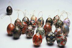 Eggs - Washi Art by Mitsuye