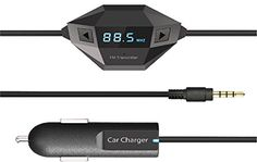 CiDoss FM Transmitter Car Charger Adapter For iPone 6 6 Plus 5 5S 4S BlackBerry /Sony / Samsung and mp3/mp4 Player