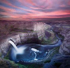 Palouse Falls Lies On The Palouse River In Southeast Washington, USA