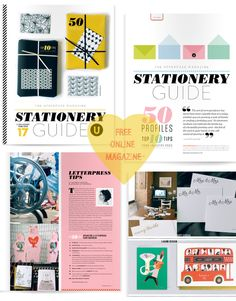 I'm sure you don't want to miss this FREE online stationery guide curated by the best mag in town ... Uppercase. And such a great thing to see my friend Jessica Nielsen her work on the cover ... yeahhh for...
