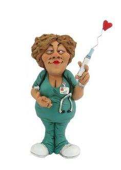 Hi-Line Gift Ltd Warren Stratford Occupations Collectible Figurine, 10-Inch, Female Nurse
